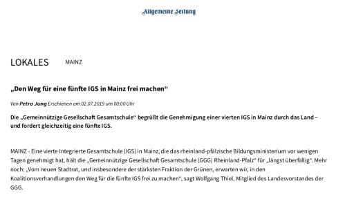 """""""Den Weg für eine fünfte IGS in Mainz frei machen"""" copy"""